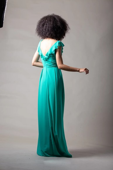 Vestido Heloiza Verde Thiago Mendonça