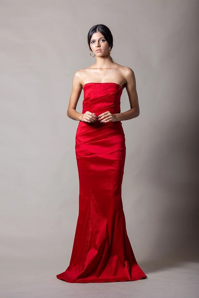 Vestido Gloria Tqc Vermelho Thiago Mendonça