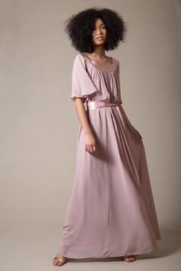 Vestido Martha Cetim Rosa THM