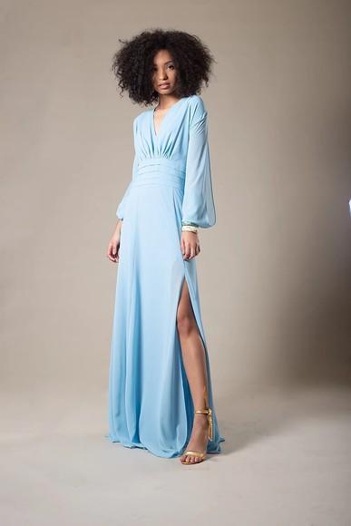 Vestido Sofia Pala Azul Thiago Mendonça