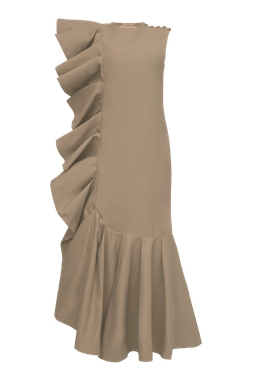 Vestido Lana Marrom
