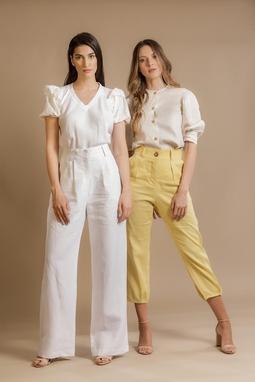 Calça Pantalona Helena Branco