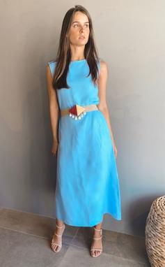 Vestido Alessandra Azul
