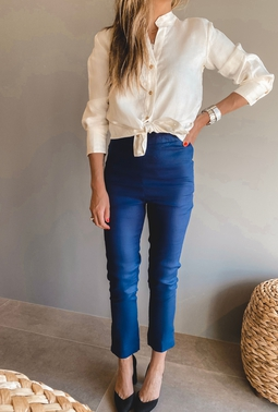 Calça Skinny Azul