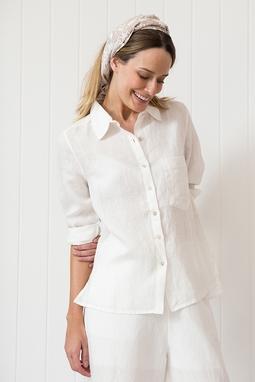 Camisa Linho Off White