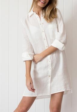 Camisao Linho Off White