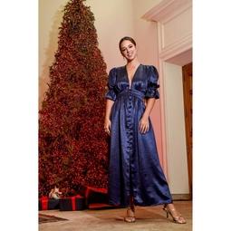 Vestido Abi Azul Marinho