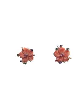 Brinco Mini Flor Coral