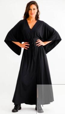 Vestido longo Karen Preto