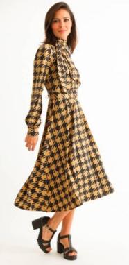 Vestido Midi Luana Pied-de-Coq