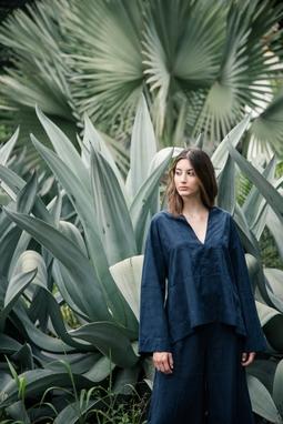 Camisa Lourdes Azul