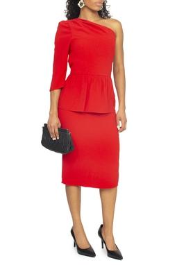 Vestido Midi Vermelho - DG15070