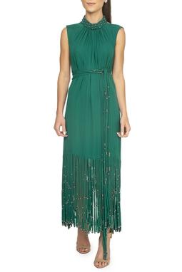 Vestido Verde Franjas - DG15438