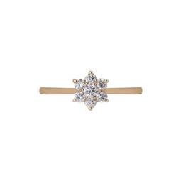 Anel Flor diamantes