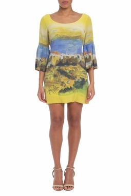 Vestido Curto Seda Estampado - DG19730