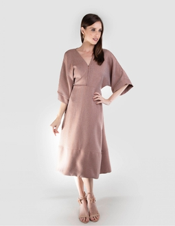 Vestido Midi - Bronze