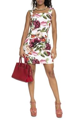 Vestido Curto Floral Reto - DG15705