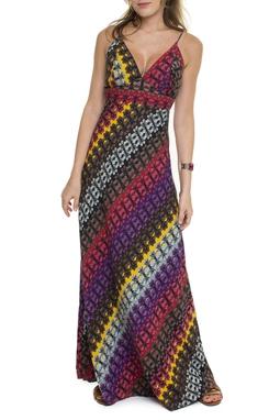 Vestido Longo Florido De Alça - DG15631