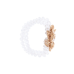 Pulseira Floral Off White