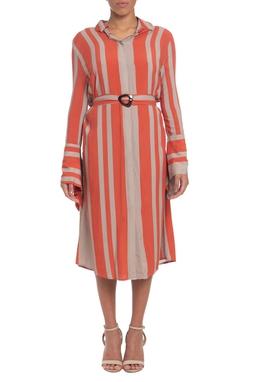 Vestido Midi Viscose Estampado - DG19558