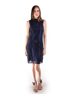 Vestido Renda Azul Marinho