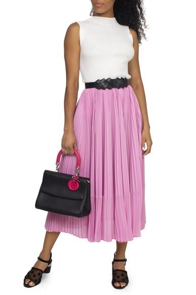 Bolsa Be Dior Flap Bag Black Pink - DG15542 Dior