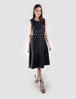 Vestido Midi - Preto