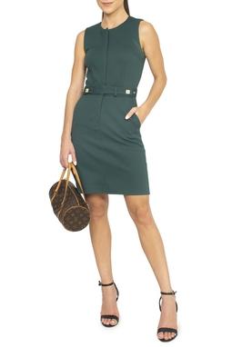 Vestido Curto Verde Ziper - DG15166