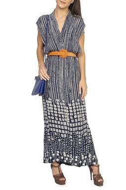 Vestido Estampado Azul Marinho - DG15060