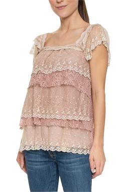 Blusa Rose Camadas Babado - DG15747