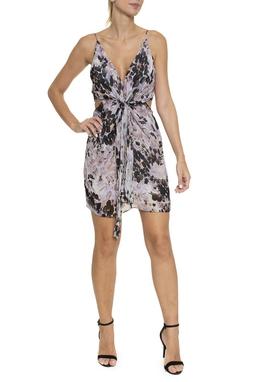 Vestido Curto Seda Estampado - DG16075