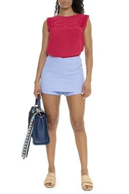 Shorts Saia Azul Claro Linho - DG15910