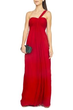 Vestido Vermelho Um Ombro