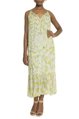 Vestido Midi Estampa Verde Oliva - DG15111