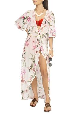 Kimono Saída De Praia Floral - DG15258
