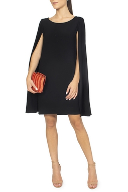 Vestido Crepe Capa Preto - DG15168