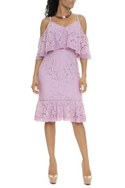Vestido Renda Alcinha Com Babado - DG15862