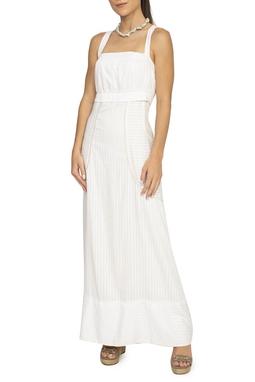 Vestido Branco Listrado - DG15084