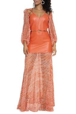 Vestido ML De Couro - DG15235