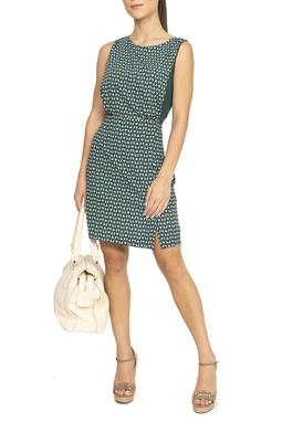 Vestido Estampado Verde Branco - DG15012
