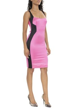 Vestido Curto Alça Faixa Preta Lateral - DG15972