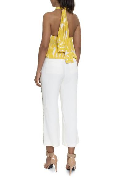 Blusa Frente Única Estampada Amarelo - DG16200 Curadoria Dress & Go