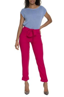 Calça Crepe Pink Reta - DG15700