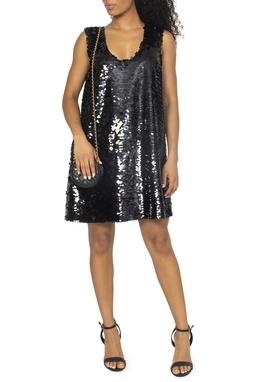 Vestido Preto Paetes - DG15065