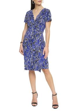 Vestido Envelope Estampa Azul - DG15651