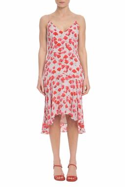 Vestido Curto Seda Estampado - DG19550