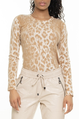 Suéter Cashmere Estampa Onça - DG15637