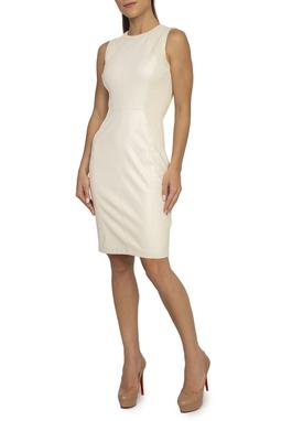Vestido Couro Eco Regata Off White - DG15164