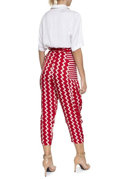 Calça Estampa Vermelha Branca - DG16269 Stella McCartney