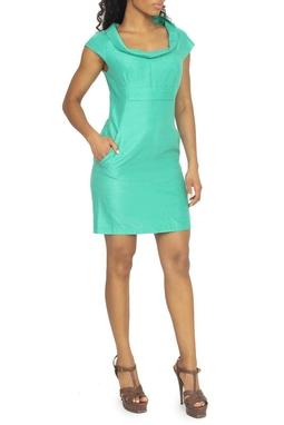 Vestido Verde Regata Gola Solta - DG15393